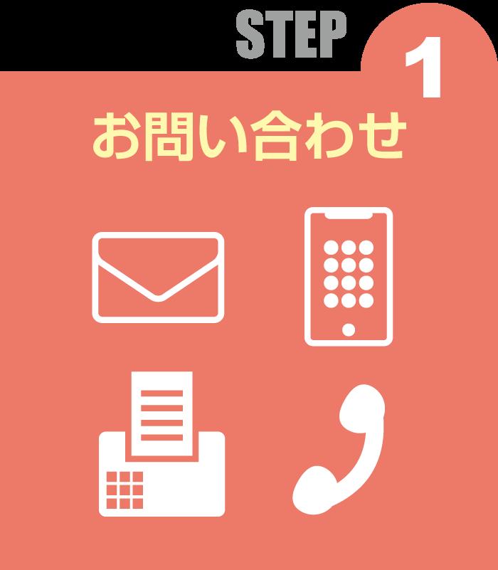STEP 1 お問い合わせ
