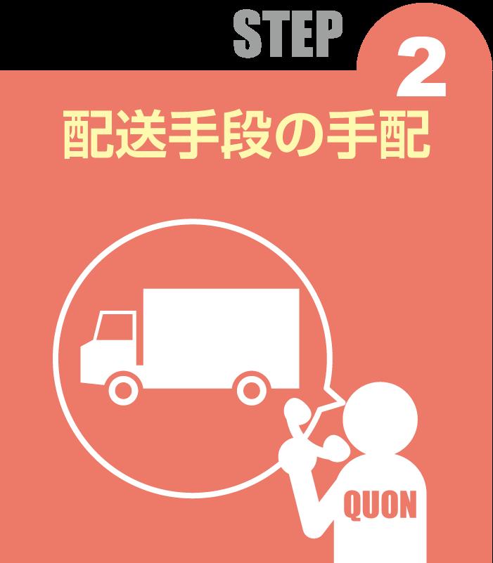 STEP 2 配送手段の手配